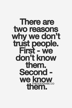 trust ... important yet often difficult for many