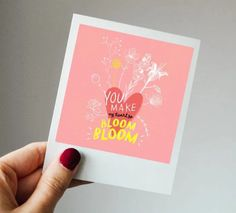 You make my heart go bloom bloom - Hejsan! You Make Me, How To Make, Love Letters, My Heart, Valentines Day, Bloom, Presents, Happy, Handmade