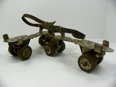 Pair of Old Metal Adjustable Skates for Your Rustic Mid Century Decor