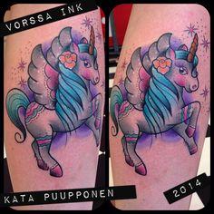 https://www.facebook.com/VorssaInk, http://tattoosbykata.blogspot.fi, #tattoo #tatuointi #katapuupponen #vorssaink #forssa #finland #traditionaltattoo #suomi #oldschool #pin up #unicorn