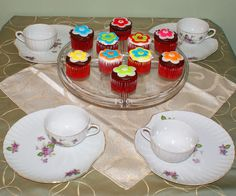 Cupcake Fondant Flower