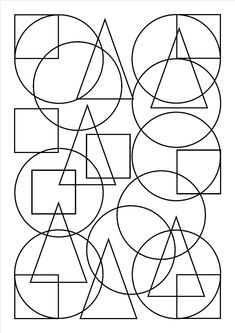 Forms - Free printable Coloring pages for kids Shape Coloring Pages, Geometric Coloring Pages, Coloring Book Pages, Mandala Coloring, Coloring Sheets, Geometric Shapes Art, Shapes For Kids, Math Art, Coloring Pages For Kids