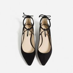 LACE-UP BALLET FLATS-SPECIAL PRICES-WOMAN | ZARA United States