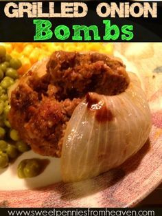 New Grilling Recipe. These Onion Bombs are so good. Easy to make and they're so moist and delicious!