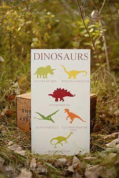 Dinosaurs Sign Boy Nursery Decor Boy Nursery Art by ColorMeLucky, $35.00. I love #colormelucky!