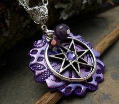 OMG!!!  WANT!!!!!!!   *drewlz*  Celtic Elven Star Amulet by GypsyMoonsGems on Etsy, $18.99