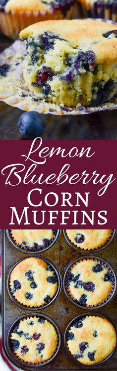 This quick and easy, blueberry muffin recipe, doctors up plain corn muffin mix with lemon and blueberries for a fast breakfast or snack!