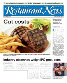 November 4, 2013 issue of Nation's Restaurant News - www.nrn.com - For a preview, click here: http://viewer.zmags.com/publication/3a97daa8