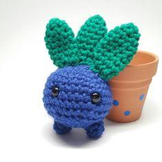 Oddish inspired Potted Plant Oddish Plush Pokemon by CraftChampion
