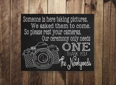 No Flash Photography Sign, Unplugged Wedding, Wedding Ceremony Sign, Please Rest Your Cameras Printable, Wedding Decor, Wedding Photographer by TheDoodleCoop on Etsy https://www.etsy.com/listing/181958849/no-flash-photography-sign-unplugged