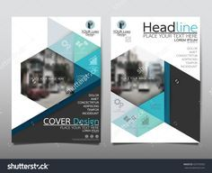 blue technology triangle and hexagon annual report brochure flyer design template vector leaflet cover presentation