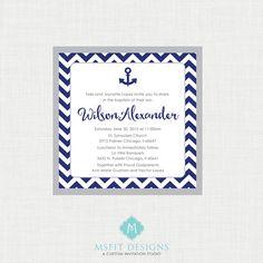 Printable Baptism Invitation Elegant Baptism by MsfitDesigns