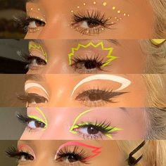 """""""✨ THREAD OF LINERS TO TRY ✨ ☝️ for anyone who wants to try graphic liner looks, but doesn't know where to get liners from! Dope Makeup, Indie Makeup, Edgy Makeup, Eye Makeup Art, No Eyeliner Makeup, Color Eyeliner, Pink Eyeliner, Graphic Makeup, Graphic Eyes"""
