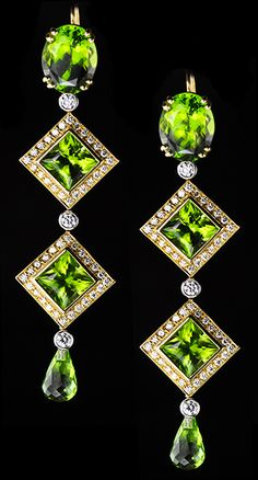 August Birthstone - Peridot  from deleusejewelers.com  via Bobby Schaefer Schaef Designs Jewelry.com