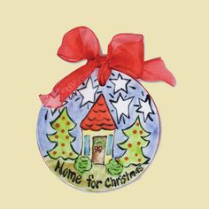 Home for Christmas Flat Ceramic Handpainted Ornament � ChristianGiftsPlace.com Online Store Ceramic Christmas Trees, Christmas Tree Ornaments, Sharpie Crafts, Paint Your Own Pottery, Painted Plates, Christmas Party Games, Hand Painted Ornaments, Christmas Home, Christmas Ideas