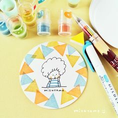 Instagram media by mizutamahanco - 三角ハンコ。 仕事をしている途中で出た三角端切れ。 捺してみたら あら♡いいじゃない♡ 使える使える。 捨てれない端切れハンコがまた増えたー(^_^;) #消しゴムはんこ #mizutamaお絵描きコースター Kawaii Drawings, Doodle Drawings, Easy Drawings, Planner Doodles, Eraser Stamp, Ballpoint Pen Drawing, Japanese Drawings, Love Doodles, Pen Illustration