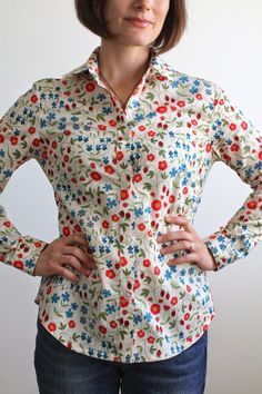 Nicole at Home: Granville shirt in Liberty lawn
