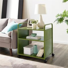 Free 2-day shipping. Buy Novogratz Aubrie Bar and Serving Cart in Green at Walmart.com