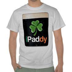 I so want this!    iPaddy iPad Shamrock Tee Shirts