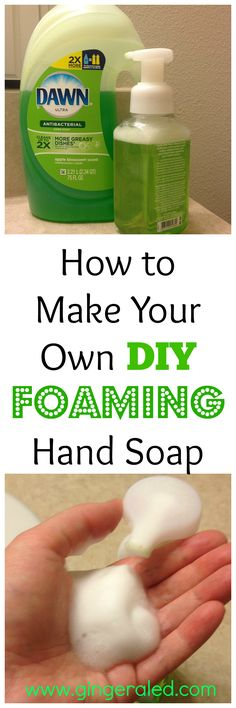 household hacks Making your own DIY Foaming Hand Soap can surprisingly save you a lot of money. Learn how easy it is to make your own foaming hand soap! Homemade Cleaning Supplies, Diy Home Cleaning, Household Cleaning Tips, Cleaning Recipes, House Cleaning Tips, Soap Recipes, Cleaning Hacks, Household Cleaners, Green Cleaning