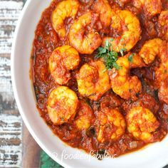 Inspired by the Goan Balchao is this Tangy Tomato Prawn Masala