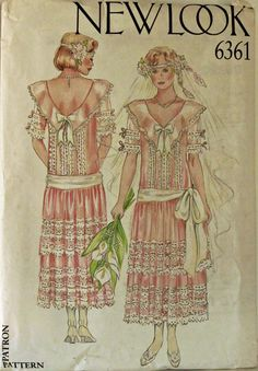 Dress & Sash Flapper Style  New Look Pattern by patterntreasury