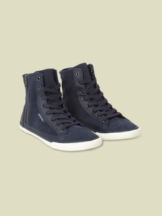 Our Tara Hi Top trainers are made from premium suede with leather trims. Featuring a lace-up front and easy side zip fastening, these comfortable trainers hit just above the ankle.