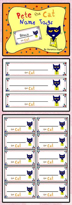 Free! Free! Free! Pete the Cat name tags. Your kiddos will love these Pete the Cat Name Tags!! You will get two sizes to choose from. I made them in black and white for those of us that are on an ink budget!! If you like Pete the Cat, then you will love my close read literacy unit of Pete the Cat and his Four Groovy Buttons.