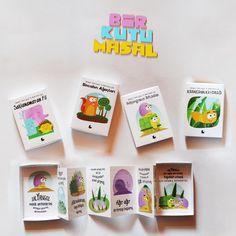 Bir Kutu Masal, çocuklar için masal kitabı, akordiyon şeklinde farklı bir tasarım sunduk. Amacımız yeni bir kitap şekli üretmek.