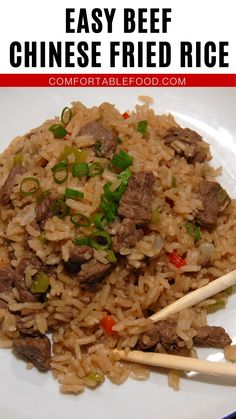 Fast Dinners, Easy Meals, Rice Dishes, Main Dishes, Beef Fried Rice, Asian Recipes, Ethnic Recipes, Chinese Food, Dinner Recipes