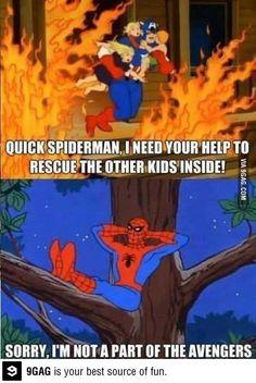 It's not spiderman's job