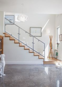 #flooring ;Economical. The cost of concrete floors is very low, about $2 to $6 per square foot to polish a plain gray slab, giving it a lustrous sheen