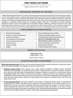 Mechanical Engineering Resume Template | Resume Template ...