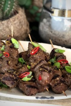 Bbq Beef, Bbq Grill, Bbq Skewers, Bbq Party, Egg Recipes, Wok, Tapas, Lunch, Meat