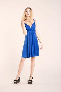 Royal Blue Infinity Dress Knee length, Convertible Royal blue dress, Party…