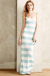 Anthropologie - Sweater Stripe Maxi Dress