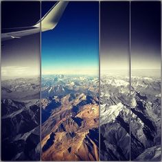 BOM DIA  Com essa vista linda dos andes do Chile  Good Morning with the beautiful view of the Andes in Chile