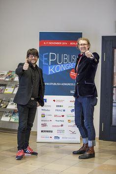 Initiator Martin Fröhlich mit Referent Conrad Fritzsch von tape.tv.
