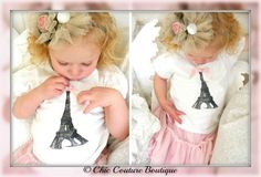 Items similar to Baby Girl and Girl's Birthday Outfit Screen Printed Eiffel Tower Tee / T-Shirt. Coming Home Outfit, Big Sister, Little, Wedding Flower Girl on Etsy Paris Birthday Parties, Bff Birthday Gift, 1st Birthday Outfits, Girl Birthday, Birthday Crafts, Happy Birthday, Big Sister Little Sister, Little Sisters, Baby Girl Headbands