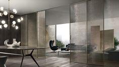 Rimadesio Velaria Doors and Manta Table