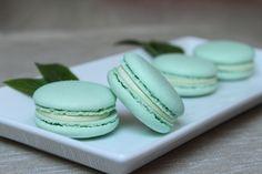 Surprises et gourmandises - Macarons à la menthe