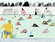 """igormaglica: """" Nicolas Burrows, Lido, 2012. giclée print, 91/2"""" x 121/2"""" """""""