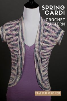 Spring Cardi FREE Crochet Pattern | KT and the Squid – KT and the Squid