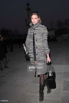 Karlie Kloss arrives for the Vivienne Westwood Ready to Wear Autumn/Winter 2011/2012 show during Paris Fashion Week at Pavillon Concorde on March 4, 2011 in Paris, France.