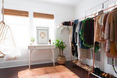 No closet in your bedroom (or not enough closet space)? Keep clothes from spilling out into the rest of your home with these stylish alternatives.