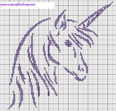unicorn - Crochet / knit / stitch charts and graphs. How gorgeous would he be on a bag