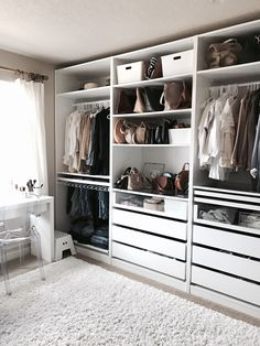 Bedroom Design with Walk In Closet. Bedroom Design with Walk In Closet. 14 Walk In Closet Designs for Luxury Homes Wardrobe Closet, Master Closet, Closet Bedroom, Closet Space, Ikea Bedroom, Master Bedroom, Ikea Walk In Wardrobe, Smart Closet, Modern Closet