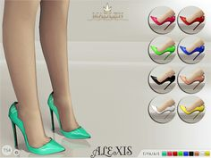 The Sims Resource: Madlen Alexis Shoes by MJ95 • Sims 4 Downloads