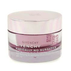 GIVENCHY Radically No Surgetics Age-Defying & Unifying Multi-Protective Care SPF 15 50ml/1.7oz A weightless anti-aging protective cream Contains hydrating agents that deliver maximum moisture Protects skin against damaging sun rays with SPF15 Remarkably minimizes signs of aging Skin appears supple, comfortable & youthful looking