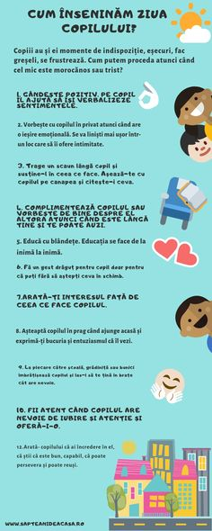 #Parenting #părinți #copii #descarcă #Infografic Cum înseninăm ziua copilului? Positive Discipline, Child Life, Baby Needs, Raising Kids, Kids Education, My Children, Kids And Parenting, Work Hard, Baby Boy